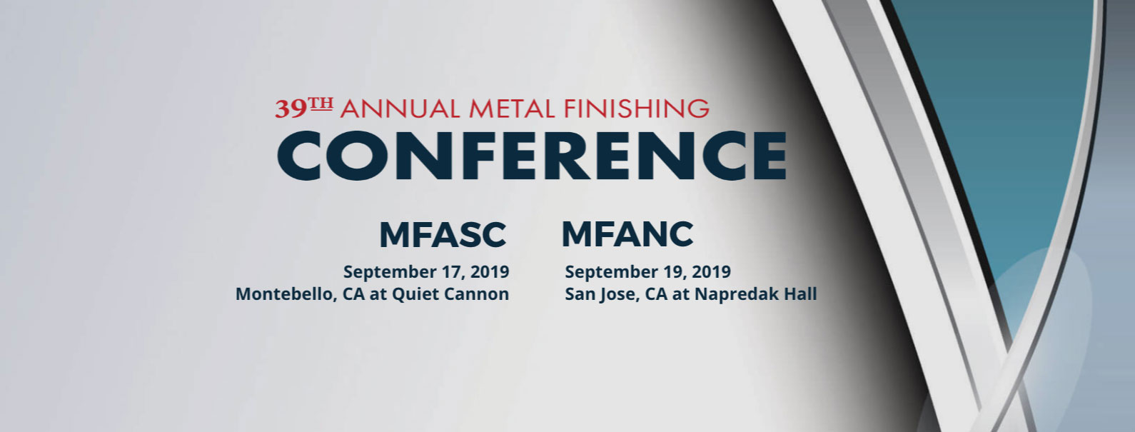 2019 Annual Metal Finishing Conference
